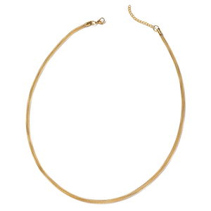 ION Plated YG Stainless Steel Mesh Chain Necklace (24 in)