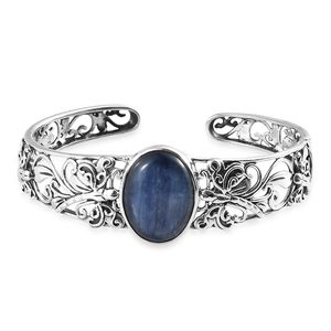 Artisan Crafted Himalayan Kyanite Sterling Silver Cuff (6.50 in) TGW 17.08 cts.