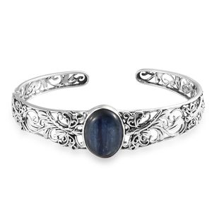 Artisan Crafted Himalayan Kyanite Sterling Silver Cuff (8 in) TGW 17.08 cts.
