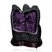 Home and Office Decor Uruguayan Amethyst Geode With Stand (405 lbs)